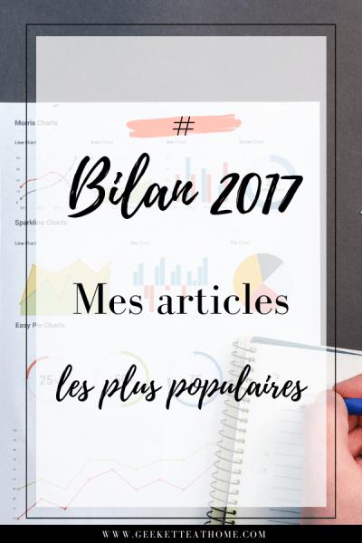 bilan 2017, mes articles les plus populaires