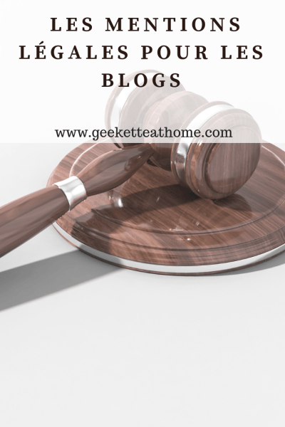 Les mentions légales pour les blogs
