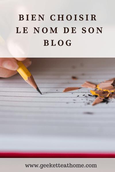 comment bien choisir le nom de son blog
