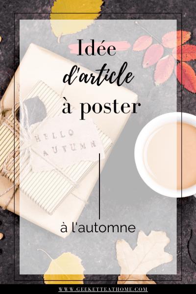 idée d'article à poster à l'automne