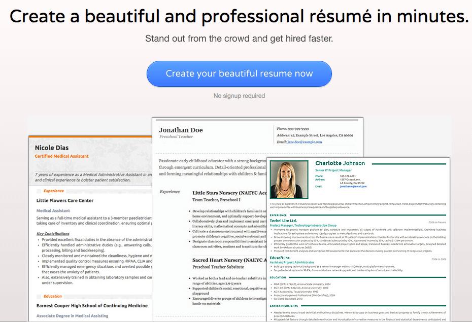 16 FREE Tools to Create Outstanding Visual Resume