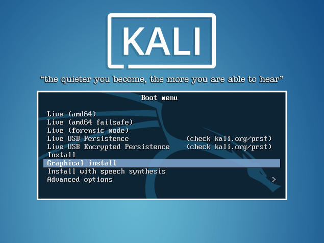 kali-begin-graphical-install