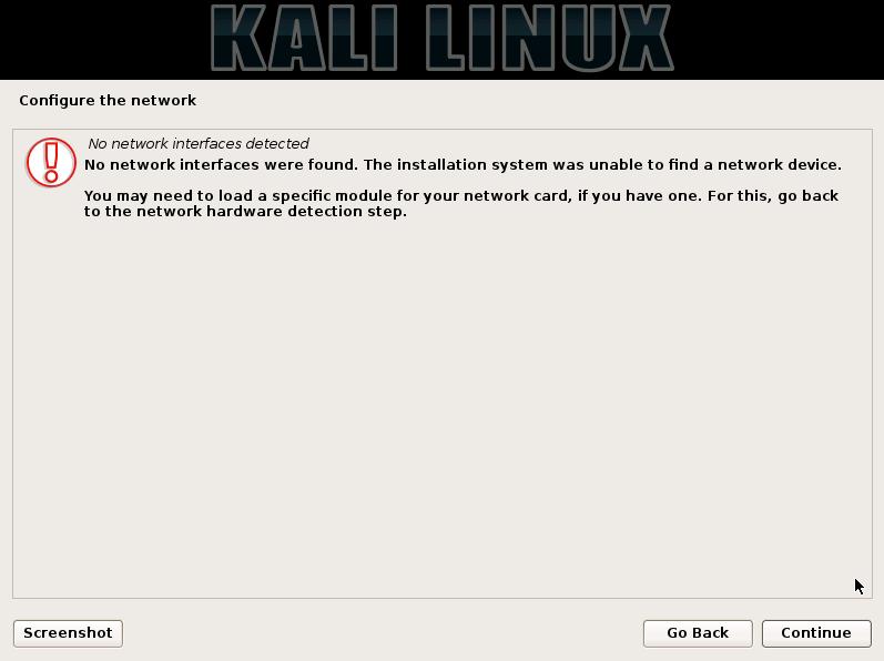 kali-network-no-detected
