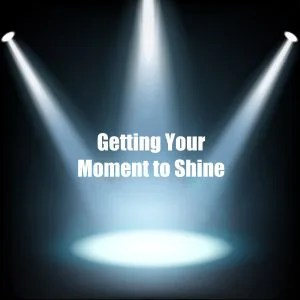 Spotlights on the text getting your moment to shine