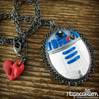 star wars R2D2 Cameo Necklace