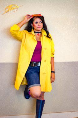 Stefanie Contreras dressed as Jubilee