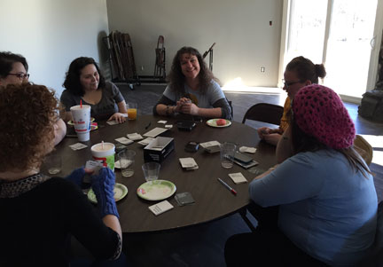 Geek Girl Brunch Kansas City - Cards Against Humanity table