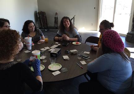 Geek Girl Brunch Kansas City - Cards Against Humanity table