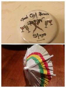 Buffy Slayer pins and Kaylee Firefly parasols for every brunchette.