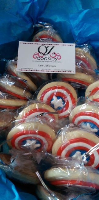 QZ Cookies, Etsy, Captain America Civil War, Geek Girl Brunch Phoenix, GGBPhx