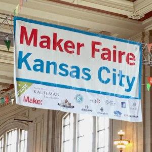 Maker Faire Kansas City banner, as seen on Geek Girl Brunch blog