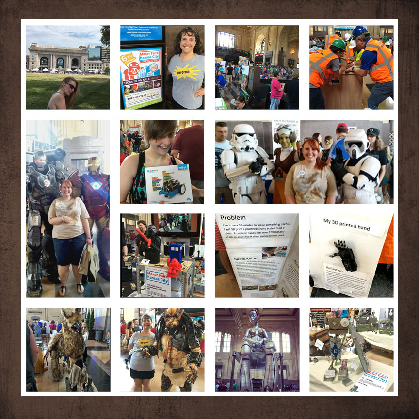 Examples of the many sights to see at Maker Faire Kansas City - read more on the Geek Girl Brunch blog!