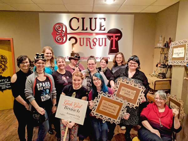 Geek Girl Brunch-Kansas City at Clue Pursuit escape room adventure
