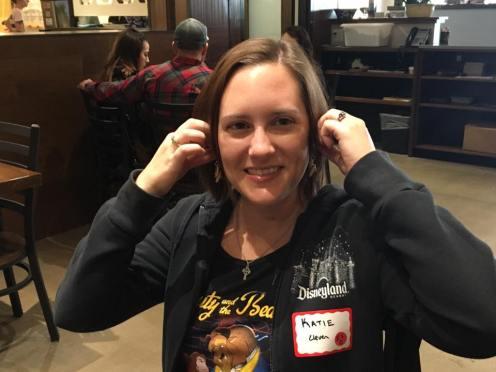 Katie wins the waffle earrings!