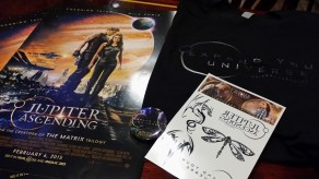 Awesome Jupiter Ascending swag from Warner Bros. at DC Comics #BrunchLikeBatgirl