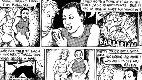 The rules of the Bechdel Test. Image source: Film School Rejects