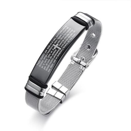 Mens stainless steel bracelet guys boyfriend gift geek gifts