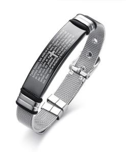 Mens stainless steel bracelet guys boyfriend gift geek gifts