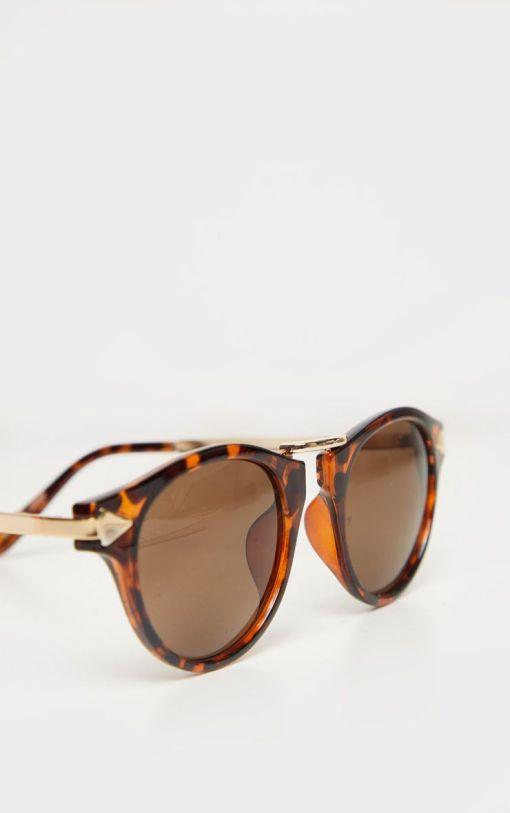 Oversized Round Sunglasses | Large Tortoise Women Retro sunglasses