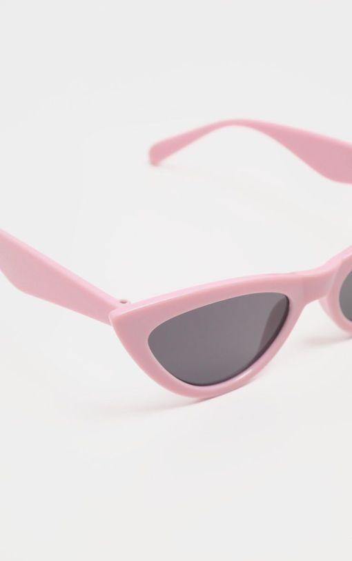 Pink retro aviator cat eye sunglasses