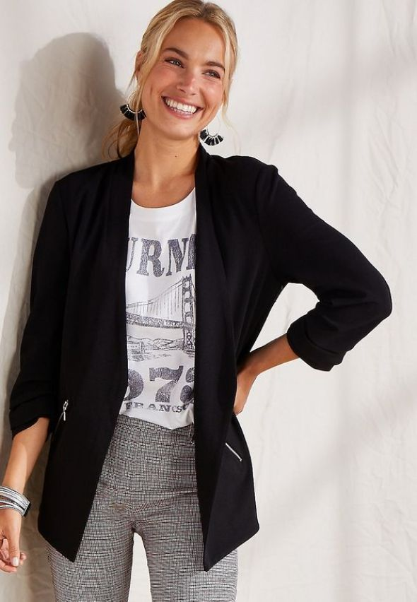 Combine a blazer with graphic tees