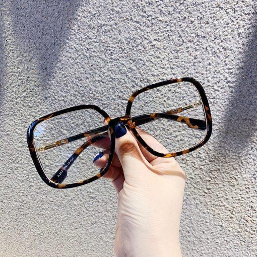 New Fashion Vintage Clear Square Glasses Frame Women Brand Designer Fresh Big Transparent Eyeglasses Female Optical Spectacles