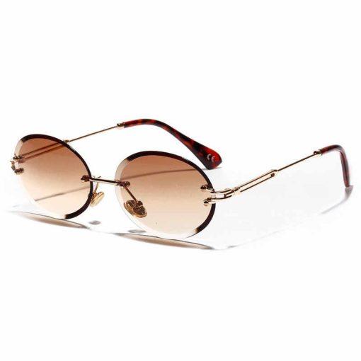 Rose Gold Retro Round Polarized Sunglasses Men