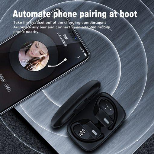 McGeSin NEW Wireless Headphones TWS Earphone Bluetooth Sport Earbuds Gaming Headsets LED Power Display Music Earphones With Mic