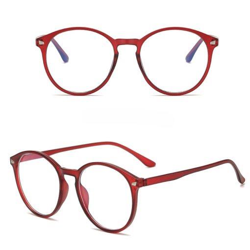Unisex Anti Blue Rays Computer Glasses Women Vintage Round Frame Gaming Glasses Men Anti Eye Eyestrain light Blocking Eyewear