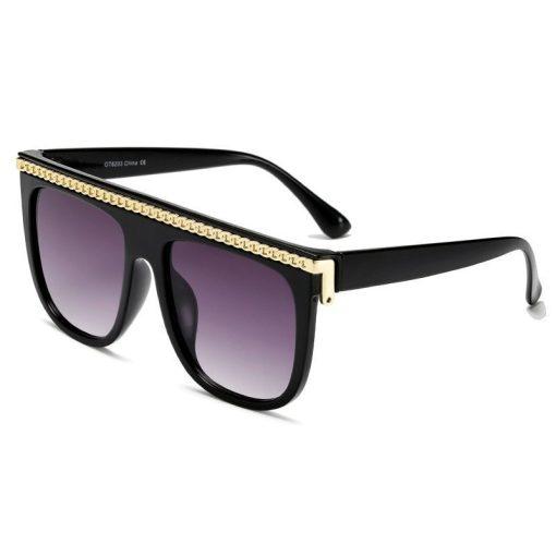 Women Square Oversized Sunglasses Gradient Big Frame Female Glasses Vintage Brand Design UV400 Flat Top Luxury Shades Oculos