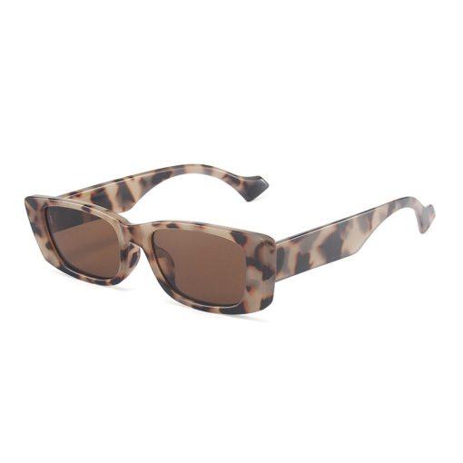 SO&EI Retro Small Rectangle Sunglasses Women Ins Popular Fashion Candy Color Eyewear Men Square Sun Glasses Shades UV400