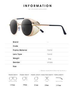 Retro Round Metal Sunglasses Steampunk Men Women Trend Brand Designer Vintage Sun Glasses Oculos De Sol Shades UV Protection