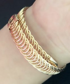 Hammered Gold Cuff Adjustable Bangles Women