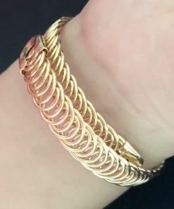 Hammered Gold Cuff Adjustable Bangles Women