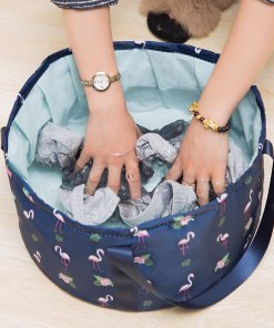 Foldable Basin Travel Camping Washbasin Bucket Fishing Folding Basin Foot Bath Sink Washing Basket Spa Foot Bath Bucket