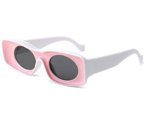 Candy Color Square Snglasses For Women Men Luxury Brand Oversize Couple Sun Glasses Female Retro Hip Hop Shades Pink