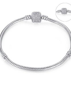 Style Snake Chain Silver Bangles For Ladies