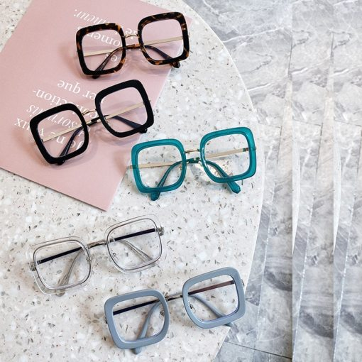 OEC CPO Overside Square Glasses Women Men Fashion Transparent Optical Glasses Frames Female Clear Eyeglasses 0631