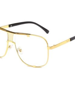 2020 Fashion Metal gradient square frame men's