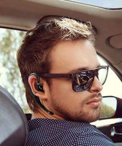 NVAHVA Wireless Earbud 10 Hrs, Ear Hook Bluetooth Earphone V5.0 Mono Earbud Cell Phone Headset Handsfree Mic for Office Driving