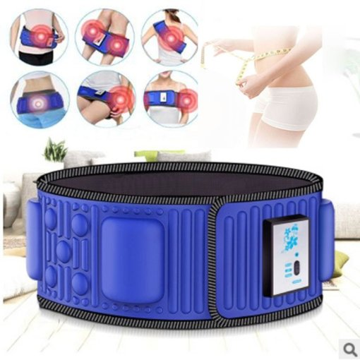 Electric Abdominal Stimulator Body Vibrating Slimming Belt Belly Muscle Waist Trainer Massager X5 Times Weight Loss Fat Burning