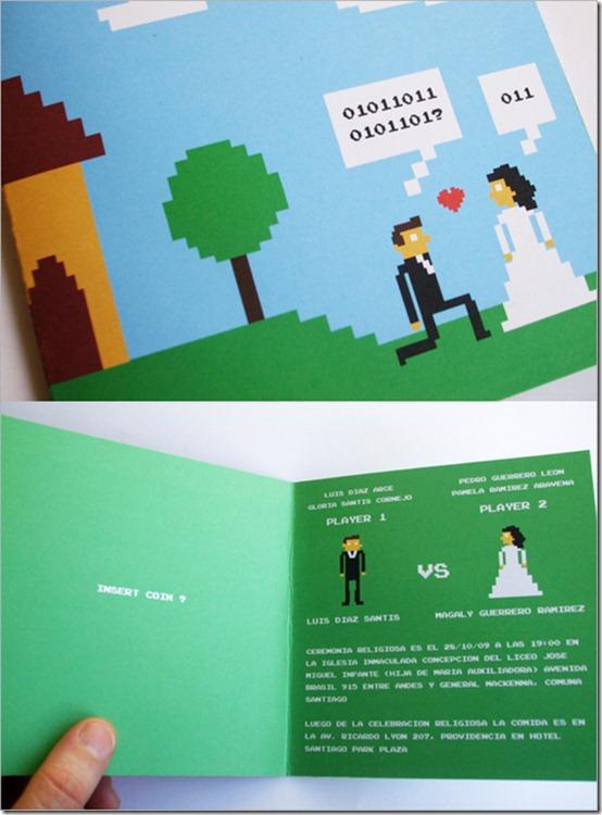 Invitacion de boda geek 2