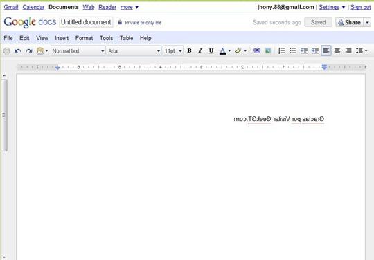 Konami Code Google Docs