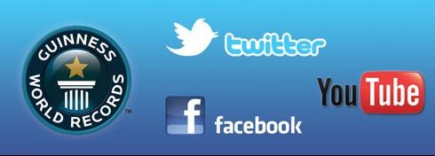 Record Guinness en Facebook, Twitter y Youtube 2011