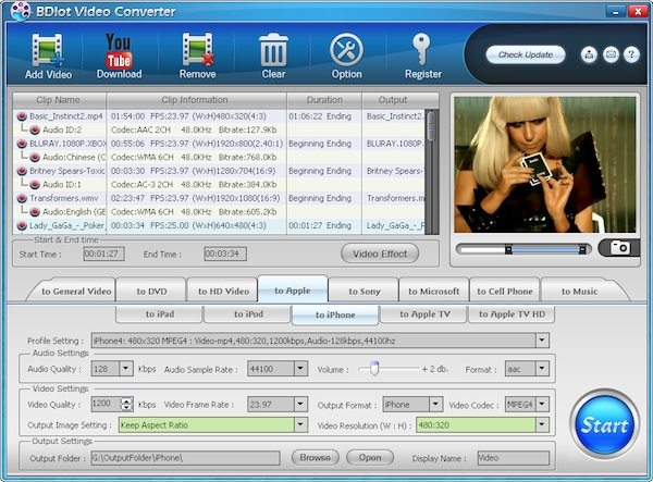 Descarga gratis BDLot Video Converter