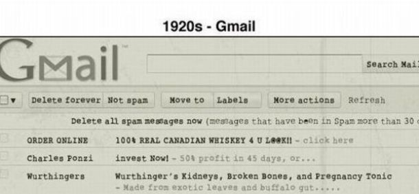 Gmail hace décadas