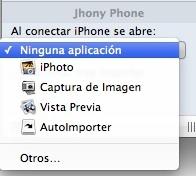 Evitar abrir iPhoto