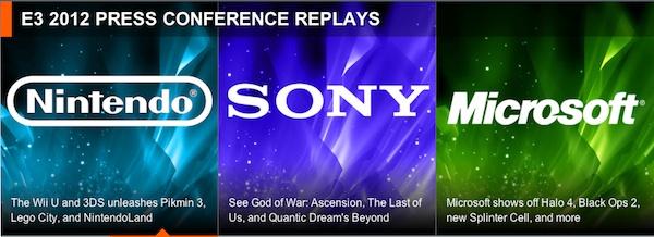 E3 2012 - Nintendo - Microsoft - Sony