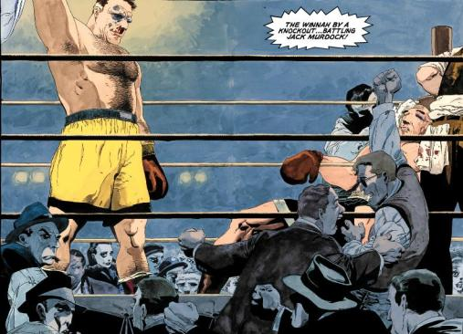 Battlin' Jack's last fight. Art by Tim Sale from Daredevil: Yellow.