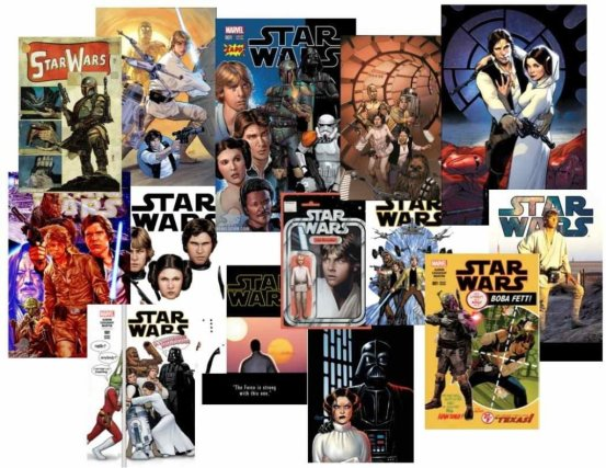Here's just a sampling of the variant covers for Star Wars #1.